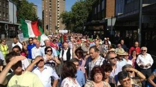 Italian consulate protest in Bedford