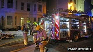 Fire crews at the scene in Rowlands Road, Worthing