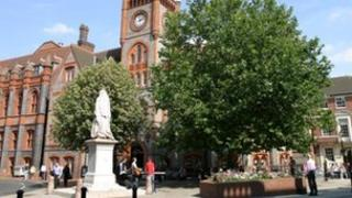 Reading Town Hall Square