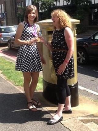 Paula Grant with Joanna Rowsell