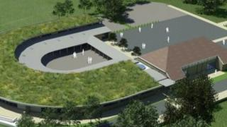 A computer-generated image of the proposed new school