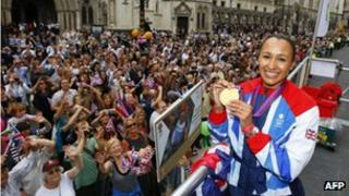 Jessica Ennis at the Team GB Parade