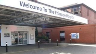 Entrance to the Friarage hospital
