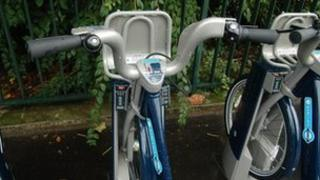 Barclays Cycle Hire docking stations in London