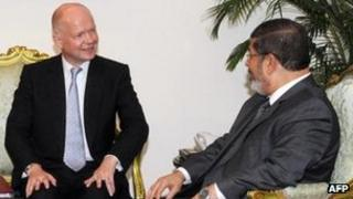 William Hague and President Mursi