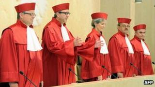 German Constitutional Court judges - file pic