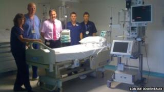 Staff at the new intensive care unit