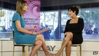 Presenter Savannah Guthrie (l) with Kris Jenner on Tuesday's Today show