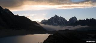 View over Imja lake
