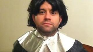 David Perkins as William the Conqueror in one of his videos