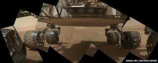 Underbelly of Mars rover