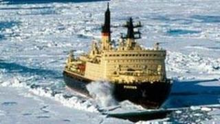 file picture of a Russian nuclear powered icebreaker