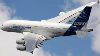 The A380 double-decker jet is Airbus' flagship plane