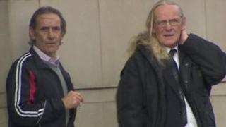 John Robert Nicholl and Edward Nicholl who are charged in connection with a sham marriage at Belfast City Hall