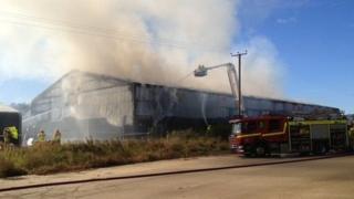 Fire at potato warehouse in Norfolk