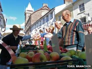 Apple stall at Abergavenny Food Festival