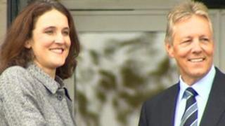 Theresa Villiers and Peter Robinson