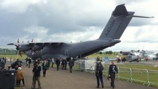 Airbus A400M military transport plane