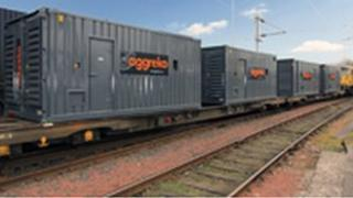 Power generators on train