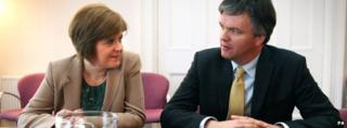 Nicola Sturgeon and Michael Moore