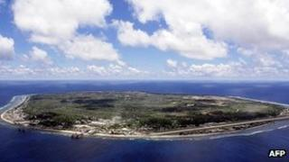 File image from 2001 of the island of Nauru