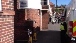 The scene of the attack in Whitby