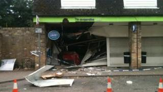Co-op in Fulbourn after ram-raid