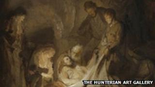 Rembrandt's Entombment Sketch