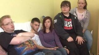 Young people who live at Lurgan Foyer