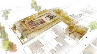 Concert hall plans - aerial picture