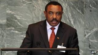 Hailemariam Desalegn speaking as foreign minister at the UN (26 Sept 2012)