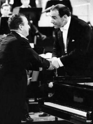 George Hurst (right) with pianist Claudio Arrau