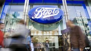 Boots store in London