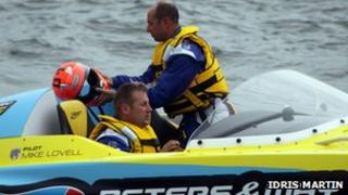 Powerboat crash pair