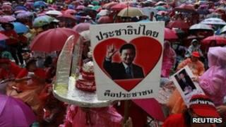 "Thai ""red shirt"" supporters of former Prime Minster Thaksin Shinawatra, 15 September 2012"