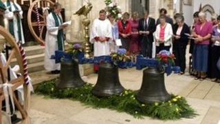 Bells blessed at Wimborne Minster