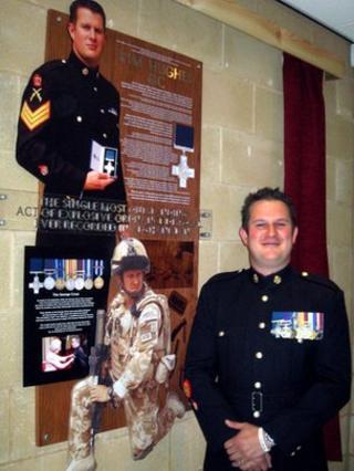 Warrant Officer Kim Hughes at Thomas Telford School in Telford