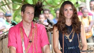 The Duke and Duchess on Tuvanipupu Island