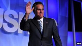Mitt Romney addresses the US Hispanic Chamber of Commerce 17 September 2012