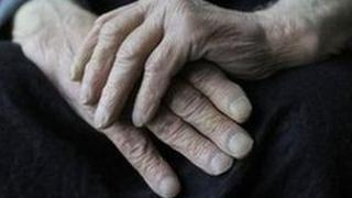 Elderly man's hands