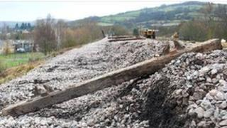 Operators believe the chicken curve land-slip was caused by cold, wet weather