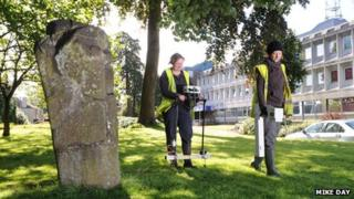 Archaeologists carry out surveys in the grounds of Central Scotland Police HQ