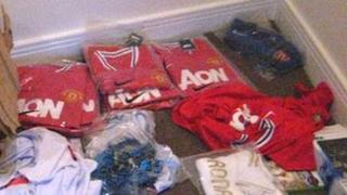 The counterfeit goods found by Powys council
