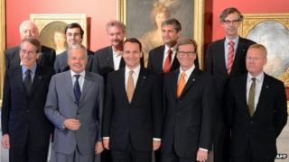 EU foreign ministers in Warsaw, 17 Sep 12