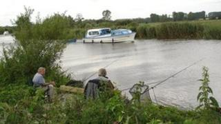 Fishing on the River Waveney