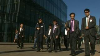 Chinese delegation in Bracknell