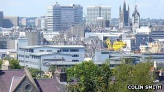View of Aberdeen skyline