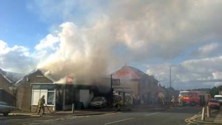 Fire at Bowerham Road Lancaster