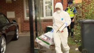 Forensic search of property in Marriot Road
