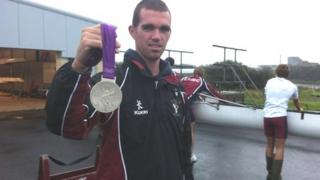 Richard Chambers keep his medal safe during training sessions